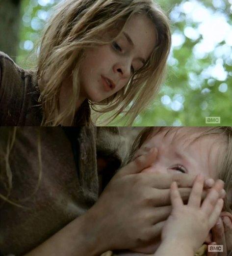 The-Walking-Dead-Lizzie-smothers-Judith-Brighton-Sharbino