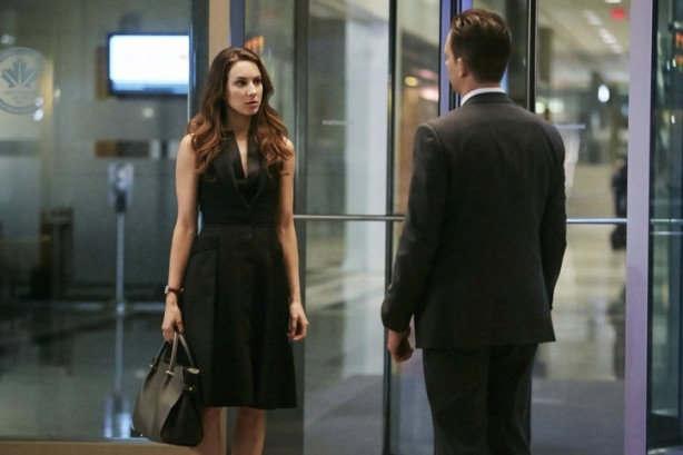 "SUITS -- ""Mea Culpa"" Episode 508 -- Pictured: Troian Bellisario as Claire -- (Photo by: Ian Watson/USA Network)"