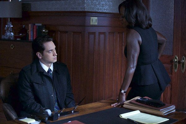 "HOW TO GET AWAY WITH MURDER - ""Meet Bonnie"" - Asher discovers not everything is what it seems when you work for Annalise. Meanwhile, Frank is presented with a situation that hits close to home, and Wes' search to find out more about Rebecca's disappearance culminates into an explosive confrontation, on ""How to Get Away with Murder,"" THURSDAY, OCTOBER 22 (10:00-11:00 p.m., ET) on the ABC Television Network. (ABC/Greg Gayne) MATT MCGORRY, VIOLA DAVIS"