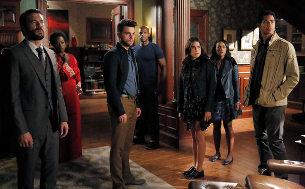 "HOW TO GET AWAY WITH MURDER - ""Hi, I'm Philip"" - Philip makes a threatening move and ADA Sinclair may have figured out a way to take down Annalise. Meanwhile, Catherine and Caleb are forced to make a life changing decision, on ""How to Get Away with Murder,"" THURSDAY NOVEMBER 12 (10:00-11:00 p.m., ET) on the ABC Television Network. (ABC/Tony Rivetti) CHARLIE WEBER, VIOLA DAVIS, JACK FALAHEE, BILLY BROWN, KARLA SOUZA, AJA NAOMI KING, ALFRED ENOCH"